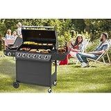 EL Fuego® AY 564 Columbus Barbecue à gaz 6 + 1 brûleurs