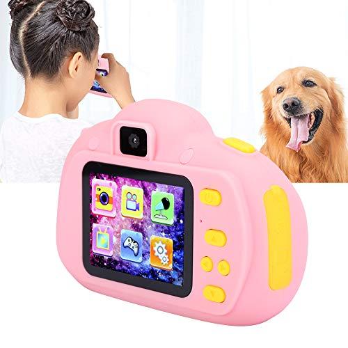 Speelgoedcamera voor kinderen, schattige kindercamera met 2,0 inch kleurrijk scherm Ingebouwde 5 spellen Ondersteuning 32G en meertalig, cadeau voor kinderen