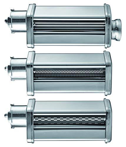 GASTROBACK 90763 3 TLG. für #40977 Design Küchenmaschine Advanced Digital Pasta Set, Edelstahl, silber