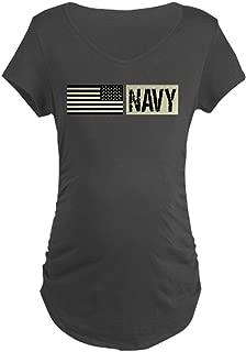 U.S. Navy: Military Black Backwards Maternity Tee