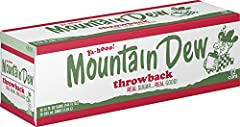 12 Pack of 12 Fluid Ounce Cans Mtn Dew Throwback, made with real sugar A refreshing retro trip down memory lane Chuggable intense refreshment Crack open a cold can of Mtn Dew Throwback and refresh your taste buds , #DOTHEDEW #MountainDew
