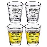 VIVOSUN Measuring Cup Liquid Heavy Glass Wine Glass 26-Incremental Measurement 1 OZ, 6 TSP, 2 TBSP,...
