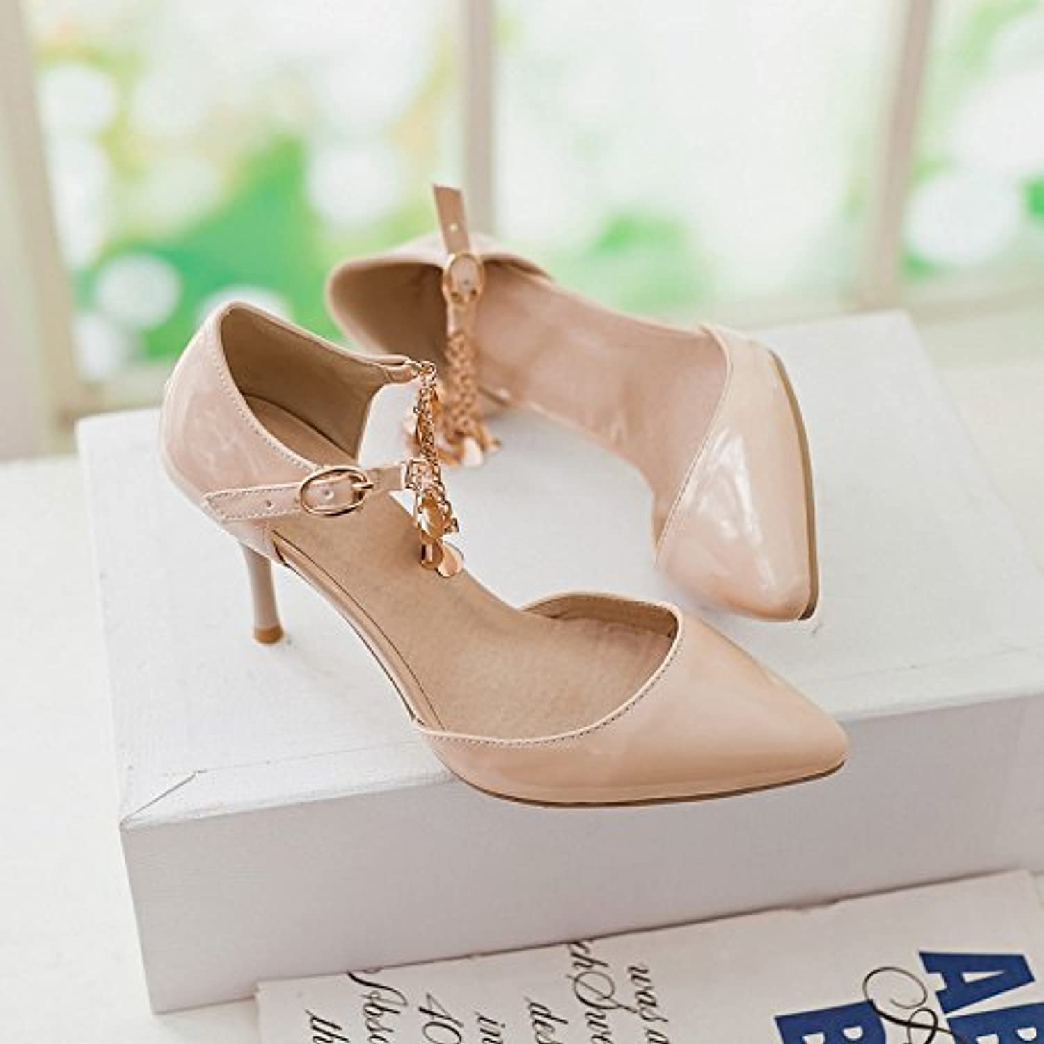 Sexy Small Pointed Metal Anklet Sandals Strap Buckle with high-Heeled Sandals