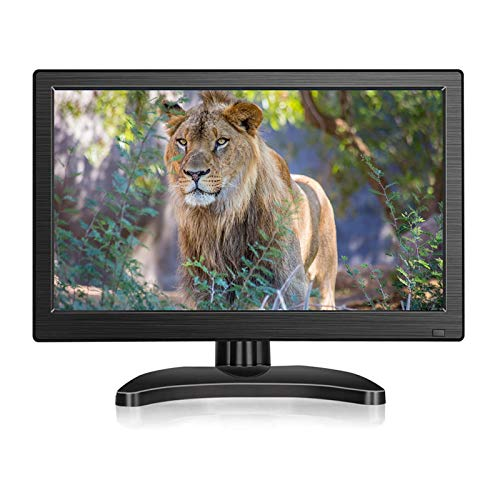 OYT IPS Portable Monitor 13.3 Inch HD 1920x1080 Small HDMI Display Screen Support HDMI VGA AV BNC USB Intput for PC Laptop Computer Home Security CCTV System with Loudspeakers