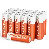 REACELL AA Rechargeable Batteries for Solar Garden Lights, 24 Packs 1200mAh NiMH AA Batteries for Outdoor Solar Lamps and More