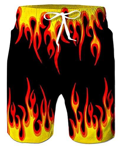 Fanient Badehose für Herren Schnelltrocknende Shorts Coole, Bedruckte Beachwear Boardshorts Lustige Sportswear Badeshorts mit Taschen