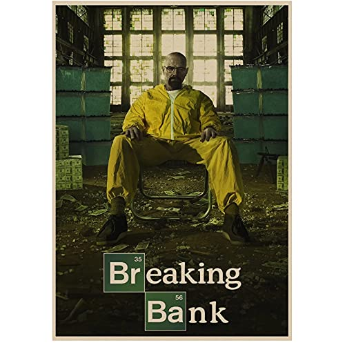 JLFDHR Breaking Bad Movie Retro Poster Vintage Posters Bar Cafe Decoración del Hogar-60X80Cmx1 Sin Marco