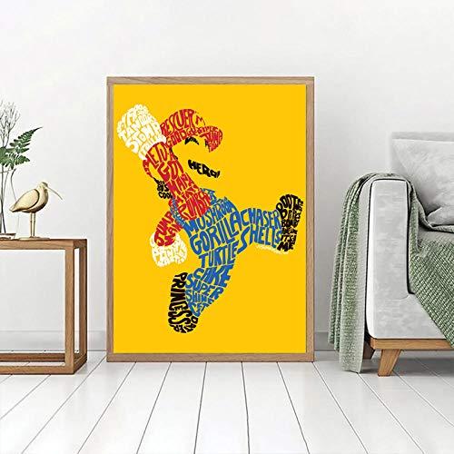 WOMGD® Moderne Cartoon Josh Mirman Wordy Mario legpuzzels, Educatief spel Houten puzzel 1000 stuk, voor woonkamer Wall Art Decor