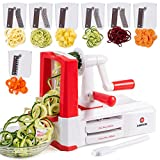 Dimrom, Spiral Vegetable Cutter, Pasta Noodle Maker - Healthy Veggie Food Spiraler, Safe, Easy and...