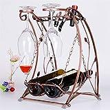LIAOLEI10 Weinregal Metall Schaukel Auf Den Kopf Bronze Weinglas Rack Schaukel Wein Europäischen Mode Kreative Eisen Tasse Weinhalter Rahmen Glas