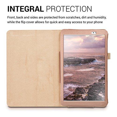 kwmobile Huawei MediaPad T1 10 Hülle - Tablet Cover Case Schutzhülle für Huawei MediaPad T1 10 - Rosegold mit Ständer - 4