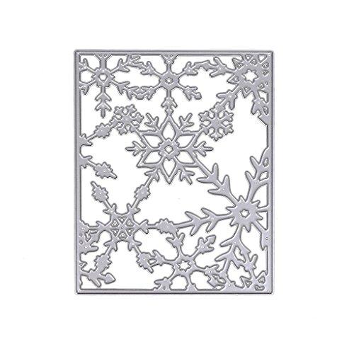 Cutting Dies Stencil Template Mould,Bottone DIY Metal Embossing Stencil for Album Scrapbooking Paper Card Art Craft Decor Christmas Design (Snowflake Frame)