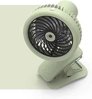 LAOZI Mini Ventilador USB portátil con Clip y Aire Acondicionado móvil con rociador de Agua nebulizada