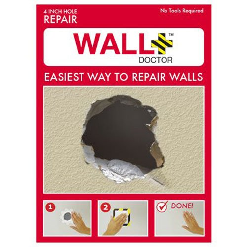 """Wall doctor 857101004808 kit drywall patch, 4"""""""