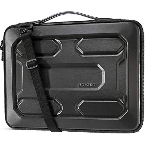DOMISO 17 inch Laptop Sleeve Shoulder Bag Shockproof Waterproof EVA Protective Case for 17.3' Dell Inspiron/MSI GS73VR Stealth Pro/Lenovo IdeaPad 320 321/HP Envy 17/LG Gram 17'/ASUS ROG Strix GL702VS