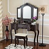 Fineboard Vanity Table, Brown