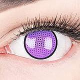 Lentillas de contacto violetas color 'Violet Screen R' con borde negro 1 par. Calidad superior para Halloween Carnaval, carnaval de Halloween gratis estuche de lentillas sin graduación
