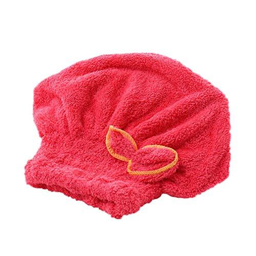 Toallas de microfibra de secado rápido, 1 pieza para el cabello de secado rápido con botón absorbente, muy absorbente, para todo tipo de cabello.