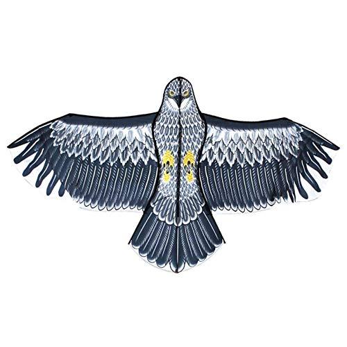 monshop Aquilone Repellente per Uccelli, Falco Spaventa Piccioni, Anti Spaventa Piccioni, Appeso Spaventapasseri Falco per Protezione Giardino