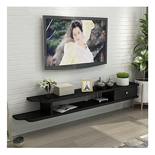 GEREP Mueble de TV Mueble TV Colgante Adecuado para Sala de Estar, Oficina, Entretenimiento, 5 Colores Disponibles/C / 130×23×18cm