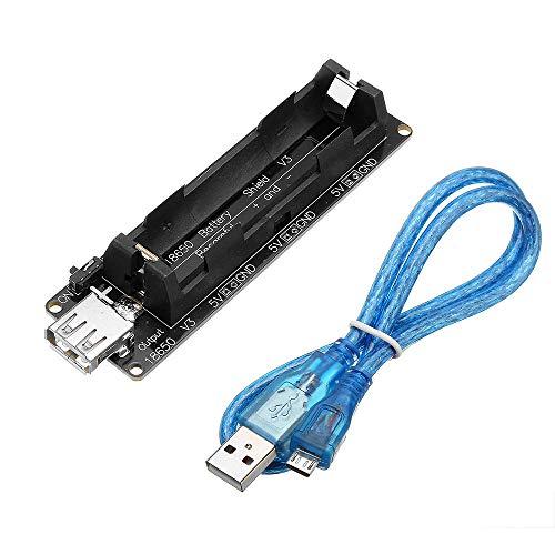 hgbygvuy ESP32 ESP32S Tablero de Cargador Micro USB 0.5A 18650 Batería Protectora de Carga para Wemos con Cable D
