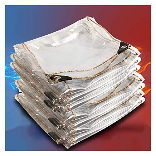 JIANFEI Transparente Cobertura De Plástico, Cubierta De Lluvia Y Nieve Transparente Impermeable Reforzada con PVC para Exteriores Pantalla De Aislamiento, 450 G / ㎡ (Color : Claro, Size : 2.0x3.0m)