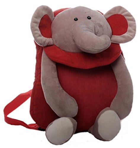Inware 8953 - Kinder Rucksack, Motiv Elefant, rot/grau