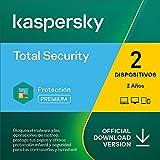 Kaspersky Total Security 2021   2 Dispositivos   2 Años   PC / Mac / Android   Código de activación enviado por email