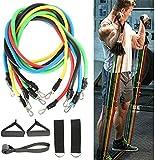 11 Unids / Set Bandas de Resistencia de Látex Crossfit Ejercicio de Entrenamiento Yoga Tubos Cuerda de Tracción Expansor de Goma Bandas Elásticas Equipo de Fitness