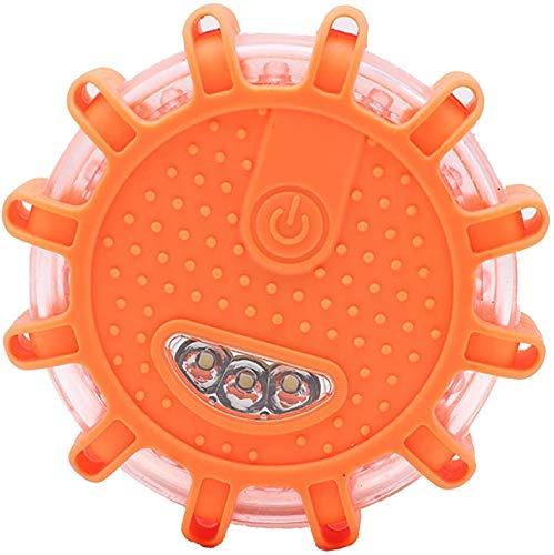AVASAGS 2 Pack LED Warnleuchten Warnlicht, Auto EIN/Aus Warnlicht Auto Rundum-Warnblinkleuchte,Magnetisch Wasserdicht Kabellos Antikollisions Sicherheitswarnleuchten (Orange)