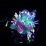 MandoPon Cadena de Luces LED, 100 LED, 33 pies, 8 Modos, enchufable, Cadena de...