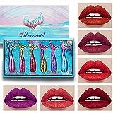 VEILTRON 1Set Fashion Matte Lipstick Set Velvet Gloss Barras de Labios de Larga duración Antiadherente CU