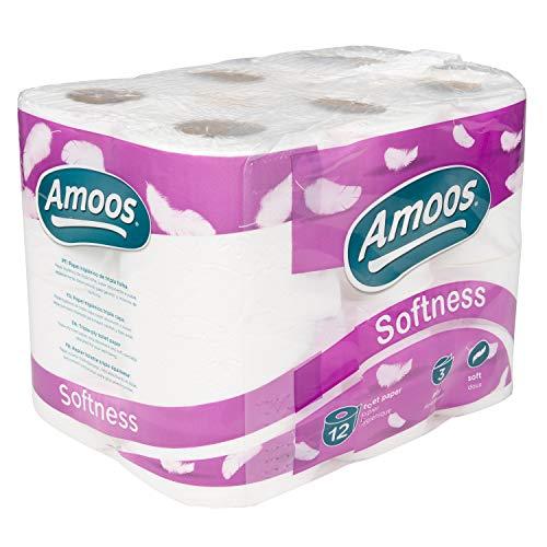 Navigator Amoos Softness Toilet Roll (08NAV312) | 3 Ply | Pack of 12 Rolls
