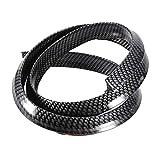 KIMISS Parafanghi per parafango in fibra di carbonio per passaruota per auto Protezione delle parti e accessori per camion antigraffio per auto (nero)