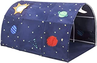 Kids Tents Bed,Tunnel Tent,TRIEtree Kids Play Tents Playhouse Portable Folding Kids Tent Toy for Twin Beds Space Boys Girl...