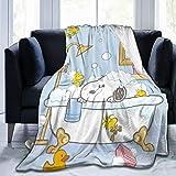 Snoopy - Manta de microfibra ultrasuave, suave y cómoda, hecha de franela, apta para sofás y camas, 152 x 127 cm