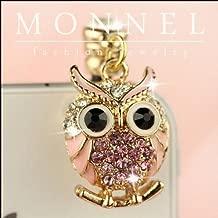 Ip606e Cute Crystal Owl Design 3.5mm Ear Cap Anti Dust Phone Plug Charm