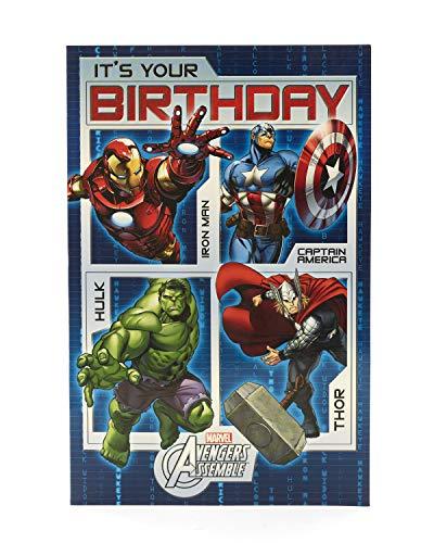 UK Greetings Avengers Birthday Card - Boys Birthday Card - Marvel Birthday Card, 418980-0-1