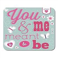 マウスパッドラバーミニ長方形愛ヴィンテージバレンタインデー誕生日記念日デザインレイヤーでグループ化ゲームノートブックコンピューターアクセサリーバッキング