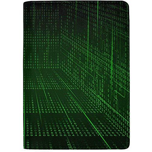 Hallway Matrix Funda de Cuero portátil para Pasaporte Funda para Equipaje de Viaje Un Bolsillo