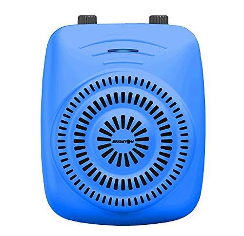Brigmton BMD818A - Radio y Amplificador de Sonido portátil, 15 W, Color Azul