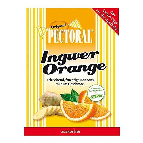 Pectoral Ingwer Orange Bonbons Zuckerfrei, 60 g