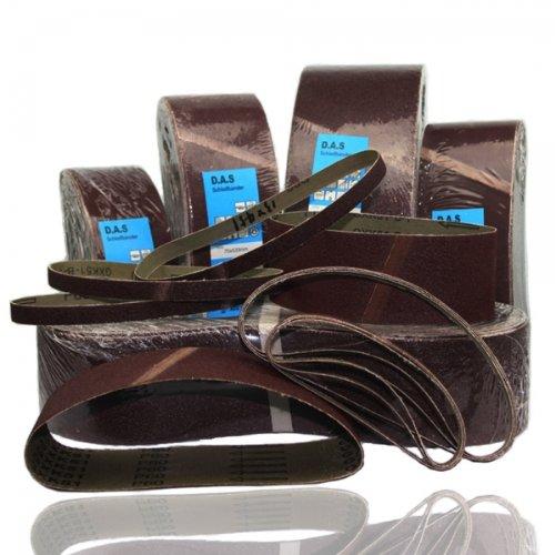 10 Stück Schleifbänder 75x2000 75 x 2000 mm sortiert (3x P60 + 3x P120 + 4x P150) passend für Festo Holz her Metabo Körnung 60 120 150 Korn Bandschleifer