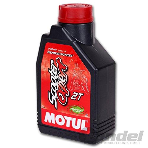 MOTUL Scooter Expert, 2 temps, 2T, huile partiellement synthétique pour moteur, huile, 1L compatible pour scooter, mobylette, Mofa