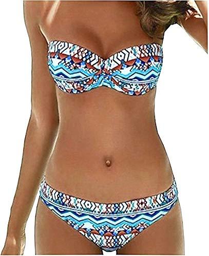 Sunflair Damen Bikini Set Paper Art (42B, türkis)
