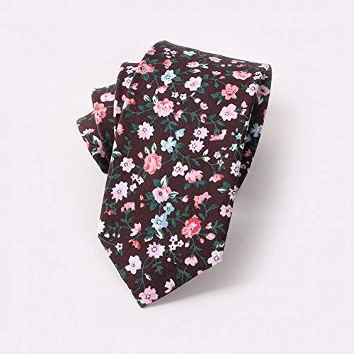 KYDCB Männer Floral Krawatten 6,5 cm gedruckt Baumwolle Krawatte Schleim Casual Krawatten für Männer Frauen Hochzeitsfest Anzug blau schwarz dünne Krawatten