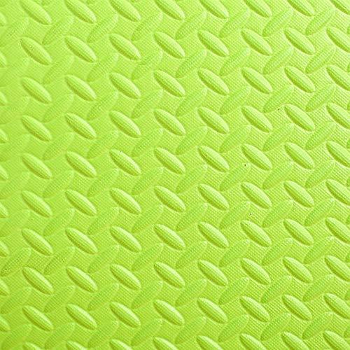 F-S-B 24 Piezas (30 cm x 30 cm) Alfombrillas de Piso de Enclavamiento esteras Protectoras | puzzlemat | Mat de Espuma Suave | Estera del Gimnasio,Verde,30 * 30 * 1.2cm