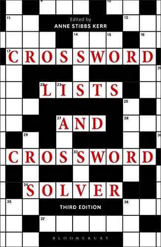 Crossword Lists And Crossword Solver Ebook Anne Stibbs Kerr Kerr Anne Stibbs Amazon Co Uk Kindle Store