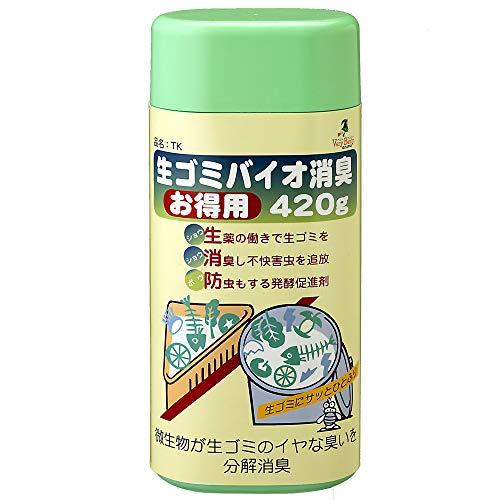 アズマ 生ゴミ消臭剤 TK生ゴミバイオ消臭・お得用420g 粉末タイプ 三角コーナーも清潔