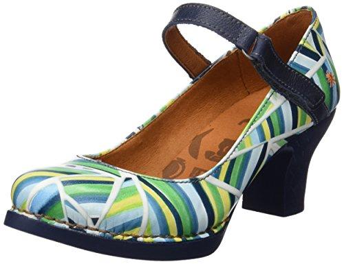 Art Harlem, Zapatos de tacón con Punta Cerrada Mujer, Multicolor (Stripes), 36 EU